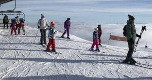 Skieurs au Semnoz